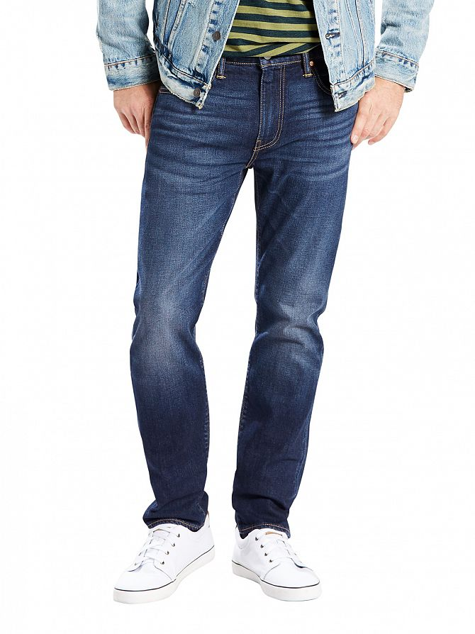Levi's Dark Blue 502 Regular Taper City Park Jeans