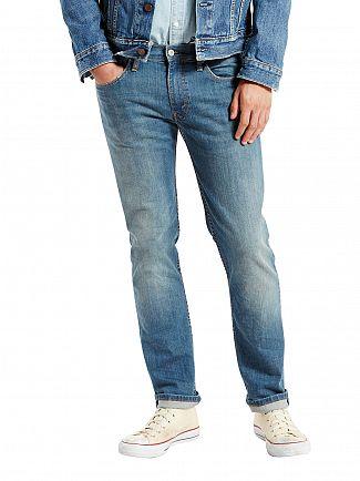 Levi's Light Wash 511 Slim Fit Pumped Up Jeans