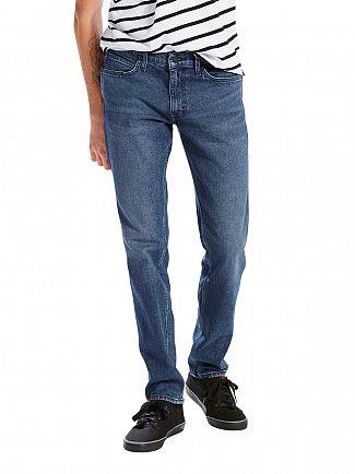 Levi's Dark Wash Line 8 Slim Straight OT Blue Authentic Jeans