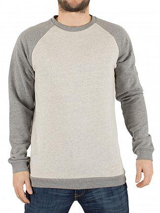Only & Sons Oatmeal Gaaland Raglan Flecked Sweatshirt