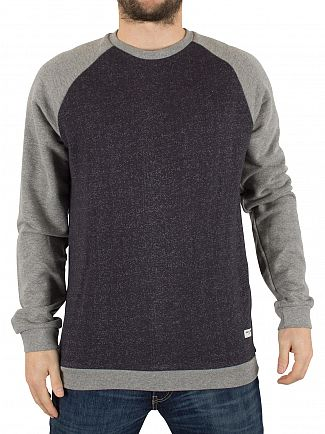 Only & Sons Dark Navy Gaaland Raglan Flecked Sweatshirt