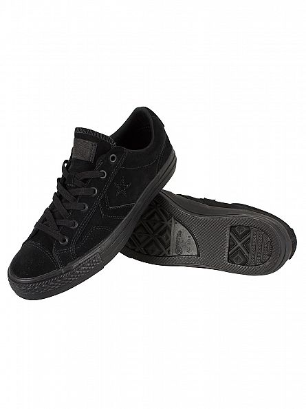 Converse Black/Black/Black Star Player OX Trainers