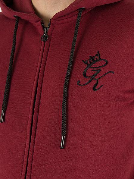 Gym King Cordovan Core Logo Zip Tracksuit Hoodie