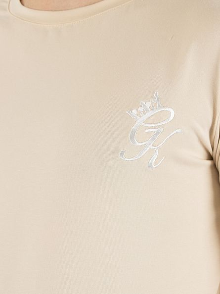 Gym King Sand Undergarment Longsleeved Logo T-Shirt