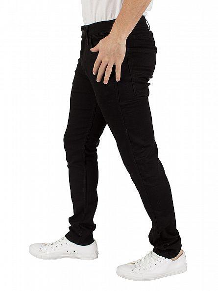 Levi's Dark Denim Line 8 Super Skinny Black RFP Jeans