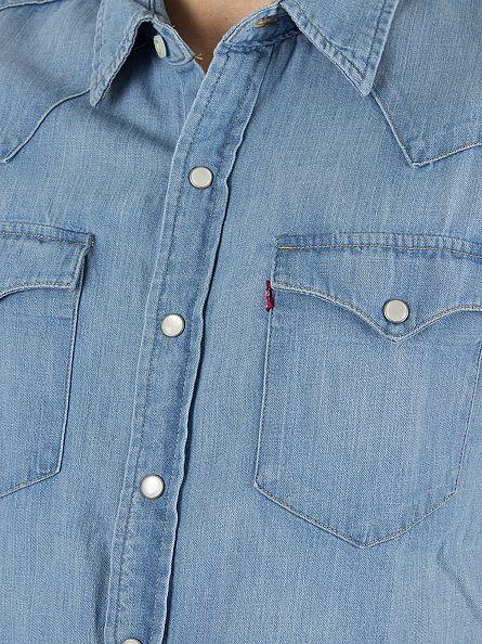 Levi's Mid Wash Shortsleeved Classic Western Core Light Shirt