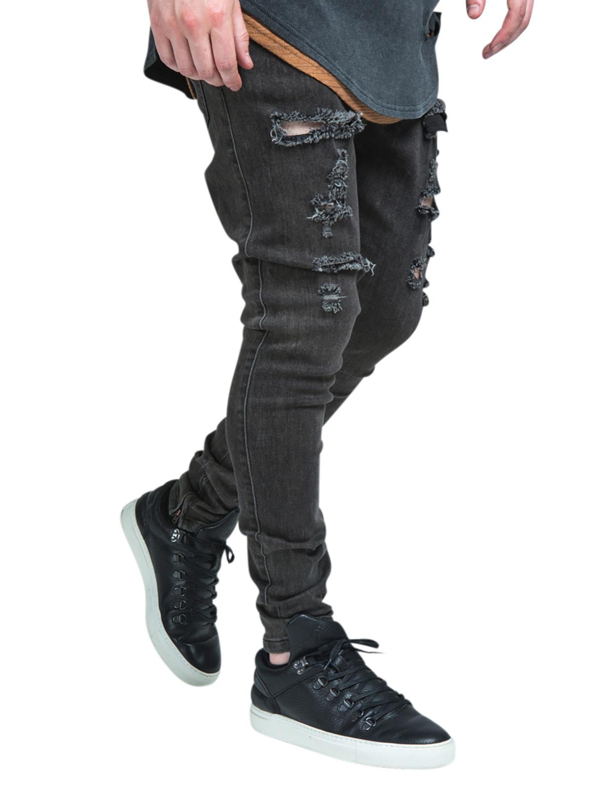 sik silk herren zerrissene hareem d nne jeans grau ebay. Black Bedroom Furniture Sets. Home Design Ideas