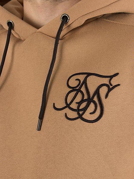 Sik Silk Beige Standard Overhead Logo Hoodie