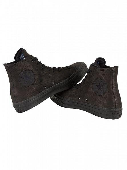 Converse Black/Black/Gum Chuck Taylor All Star II HI Trainers