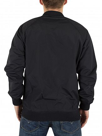 Farah Vintage Black Bellinger Logo Jacket