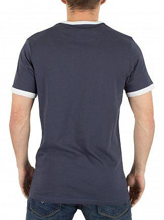 Farah Vintage Navy Groves Ringer Logo T-Shirt