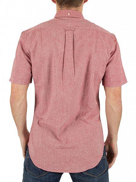 Farah Vintage Light Currant Steen Shortsleeved Slim Fit Logo Shirt