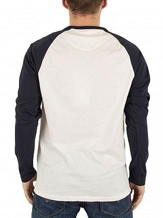 Farah Vintage True Navy Zemlak Longsleeved Raglan T-Shirt