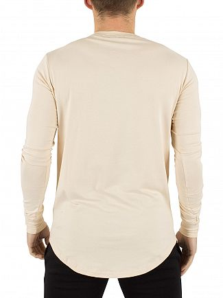 Gym King Sand Undergarment Longsleeved Logo T-Shirt