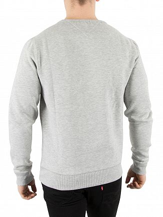 Tommy Hilfiger Denim Light Grey Marl Original Logo Sweatshirt