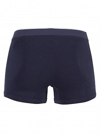 Lacoste Dark Blue 3 Pack Cotton Stretch Logo Trunks