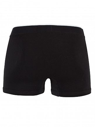 Lacoste Black 3 Pack Cotton Stretch Logo Trunks