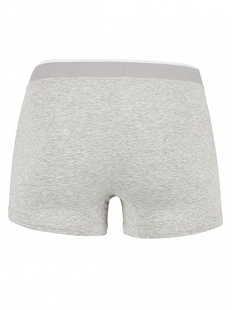 Lacoste Grey Melange 3 Pack Cotton Stretch Logo Trunks