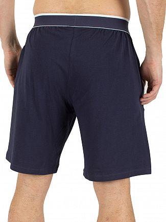 Lacoste Dark Blue Logo Waistband Pyjama Shorts
