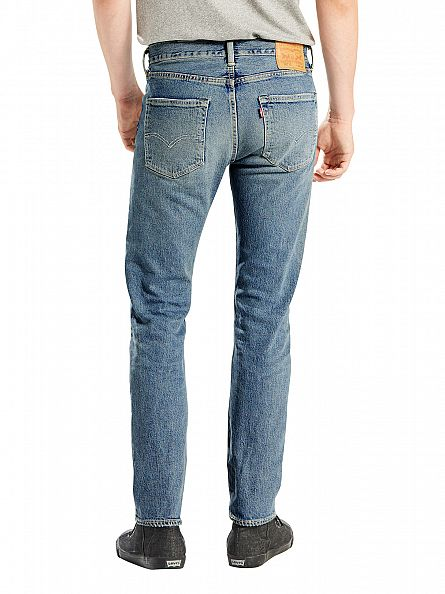 Levi's Light Wash 501 Skinny Bad Boy Jeans