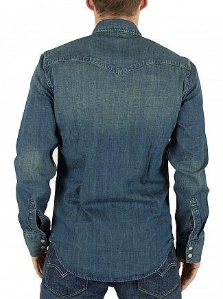 Levi's Mid Blue Barstow Western Sandy Tint Shirt