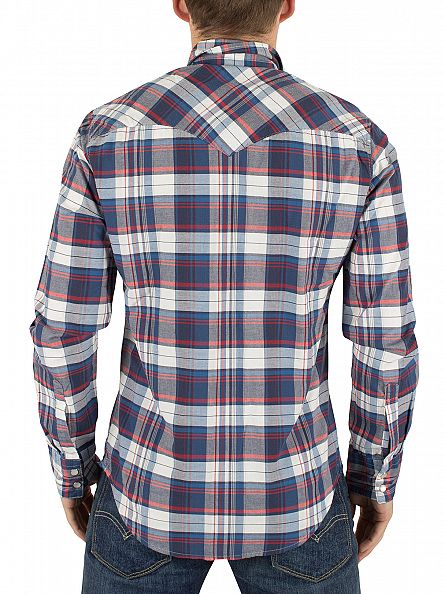 Levi's Dress Blues Barstow Western Suona Checked Shirt