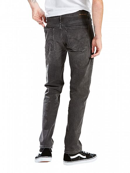 Levi's Charcoal Line 8 Slim Straight Mid Grey Destruction Jeans