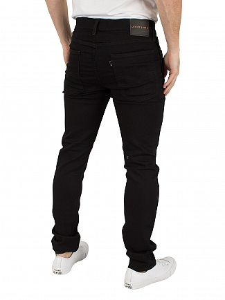Levi's Dark Denim Line 8 Super Skinny Black RFP Jeans