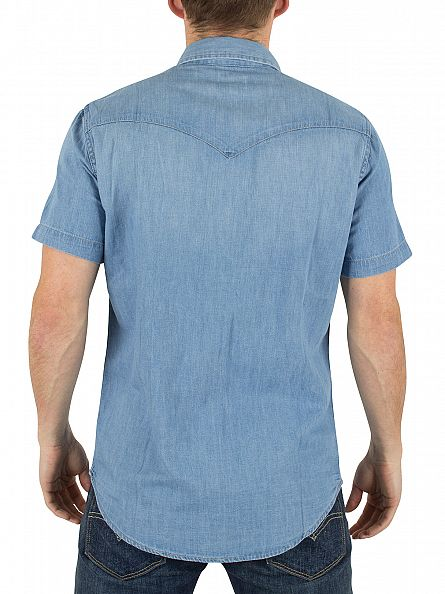 Levi's Mid Wash Shortsleeved Classic Western Core Light Shirt