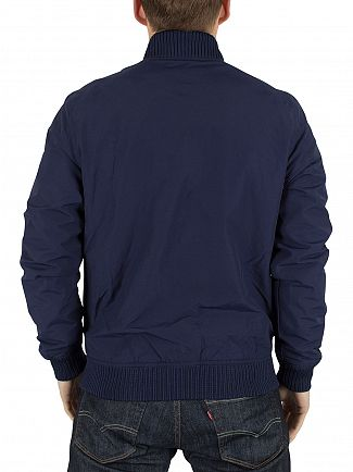 Lyle & Scott Navy Logo Bomber Jacket