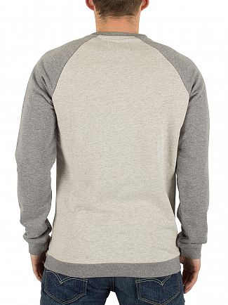 Only & Sons Oatmeal Gaaland Raglan Flecked Sweatshirt