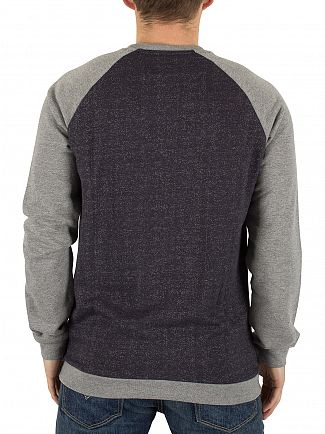 Only & Sons Dark Navy Gaaland Raglan Flecked Sweatshirt