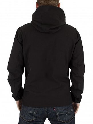 Jack & Jones Black Pelle Logo Hooded Jacket