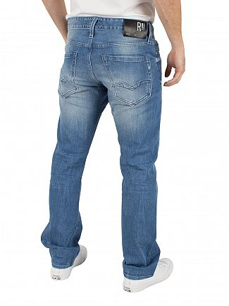 Replay Light Denim Laser Waitom Regular Slim Fit Jeans
