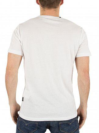 Replay White Live Life Graphic T-Shirt