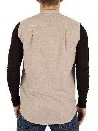 Sik Silk Stone/Black Jersey Long Sleeve Contrast Shirt