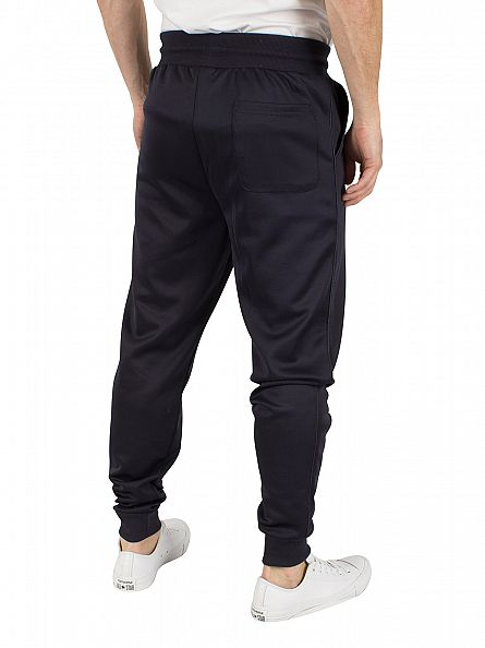 Sik Silk Navy Poly Tricot Fitted Logo Joggers