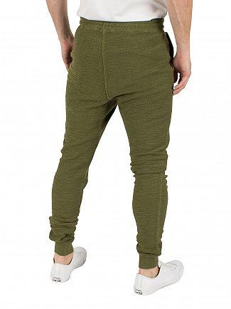Sik Silk Khaki Reverse Flannel Logo Joggers