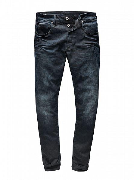 G-Star Dark Aged 3301 Slim Fit Jeans