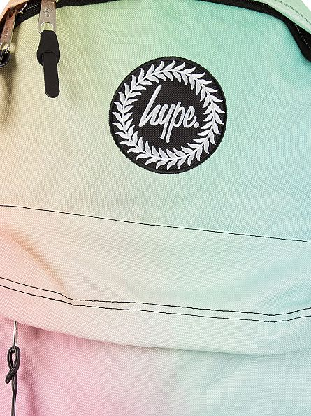 Hype Multi Pastel Gradient Fade Logo Backpack
