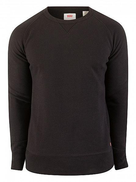 Levi's Black Original Logo Sweatshirt
