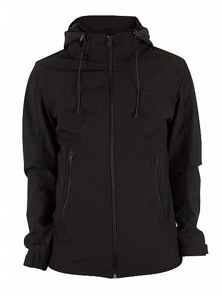Jack & Jones Black Pelle Logo Hooded Jacket