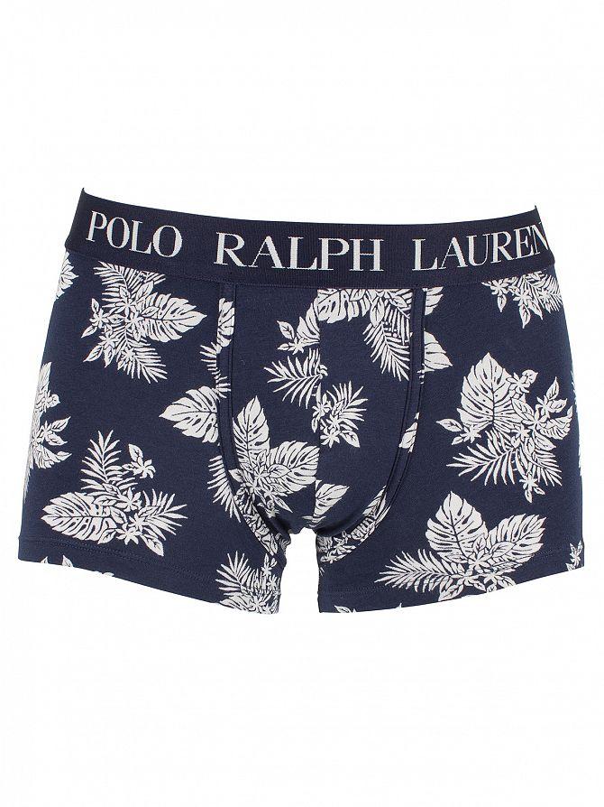 Polo Ralph Lauren Cruise Navy Classic Stretch Cotton Flower Logo Trunks