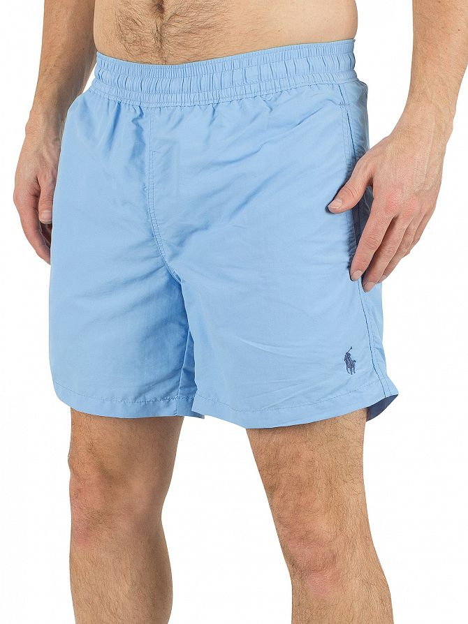 Polo Ralph Lauren Chatham Blue Hawaiian Logo Swim Shorts