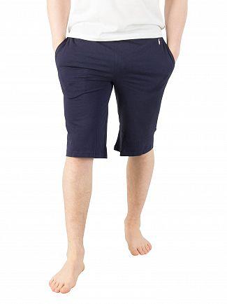 Polo Ralph Lauren Cruise Navy Logo Waistband Slim Pyjama Shorts