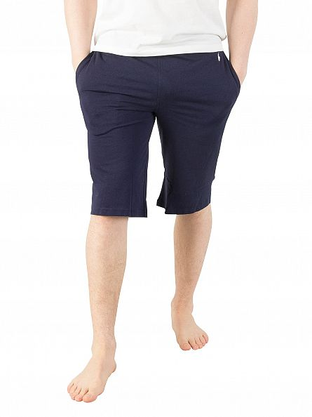 Polo Ralph Lauren Cruise Navy Logo Waistband Slim Pyjama Shorts