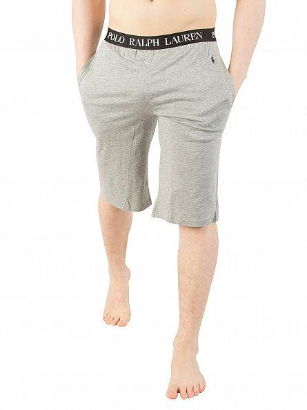 Polo Ralph Lauren Grey Heather Logo Waistband Slim Pyjama Shorts