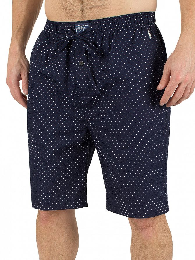Polo Ralph Lauren Cruise Navy Polka Dot Logo Sleep Shorts