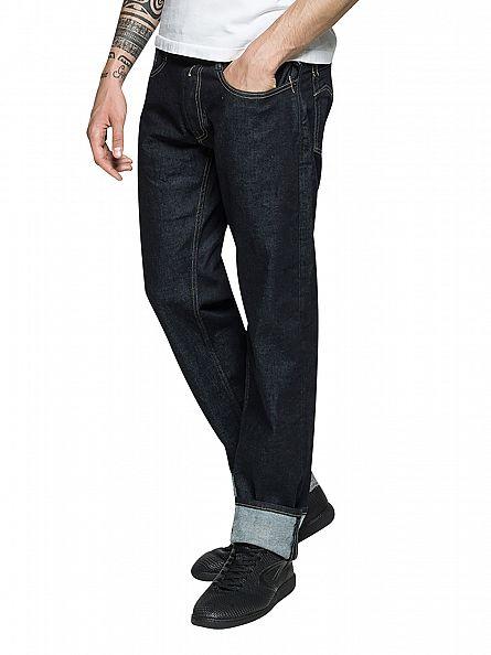 Replay Dark Wash Newbill Comfort Fit Jeans