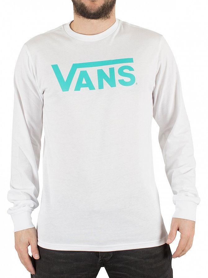 Vans White-Baltic Longsleeved Classic Logo T-Shirt